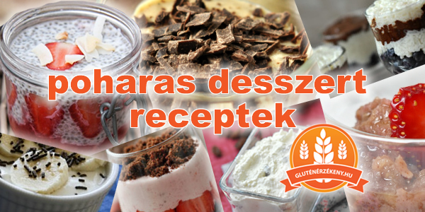 poharas gluténmentes desszert receptek