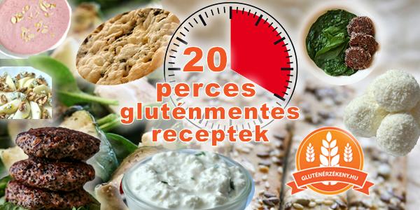 max. 20 perces gluténmentes receptek