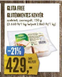 gluténmentes kenyér akció Interspar