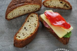 friss gluténmentes kenyér