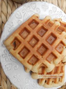 gluténmentes vaníliás gofri recept