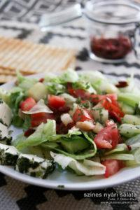 nyári saláta gluténmentes recept