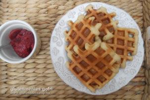vaníliás gluténmentes gofri recept