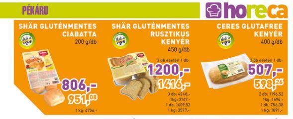 Metro gluténmentes kenyerek