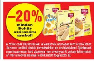 Spar Schär gluténmentes szárazáruk akciója