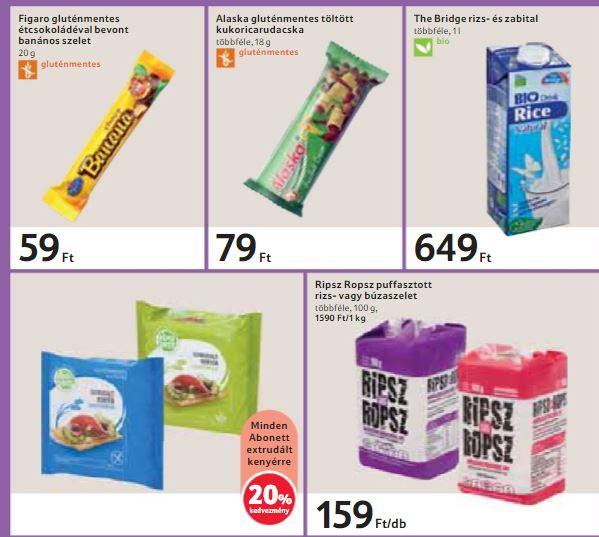TESCO gluténmentes termék akciók