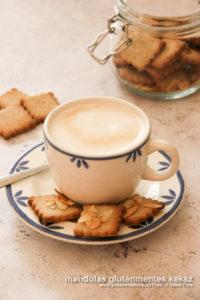 mandulás gluténmentes keksz recept