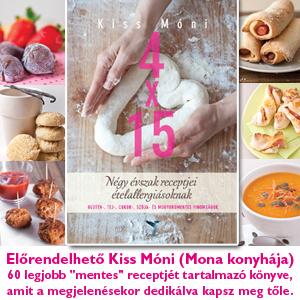 Mona gluténmentes recepteskönyv - 4 x 15 - Négy évszak receptjei ételallergiásoknak