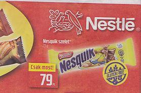 gluténmentes Nesquick szelet