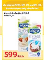 ALPRO növényi ital akció gluténmentes tejmentes laktózmentes