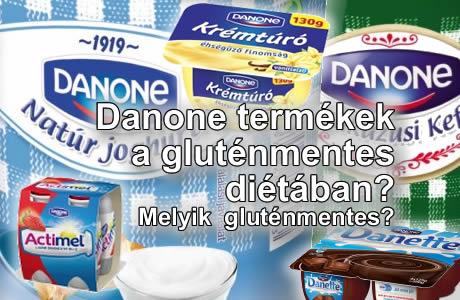 Danone termékek gluténtartalma