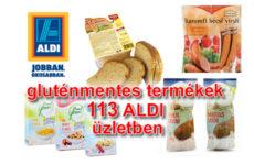 Gluténmentes élelmiszerek az ALDI mind a 113 üzletében