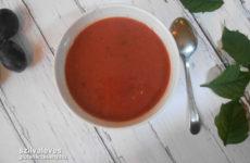 Sütőtökös szilvaleves - gluténmentes leves recept - tejmentes