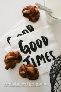 Kanelbullar - svéd fahéjas csiga gluténmentes recept