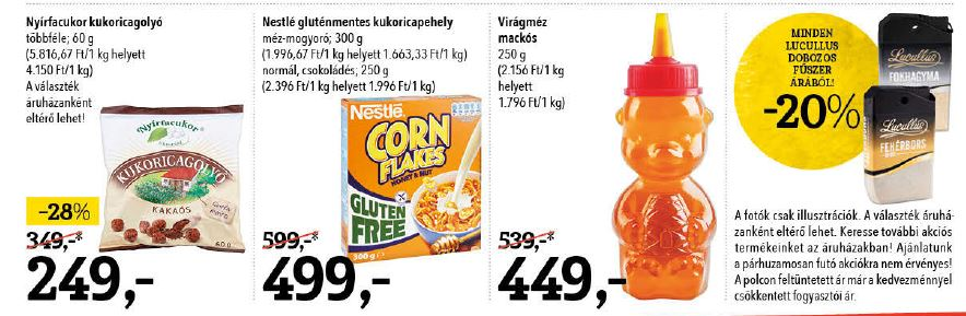 SPAR Nestlé gluténmentes kukoricapehely akció