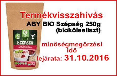 Bio kölesliszt termékvisszahívás