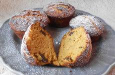Sütőtökös, fahéjas, aszalt szilvás gluténmentes muffin