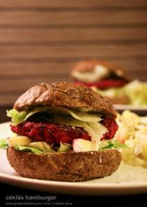 céklás pulykaburger - gluténmentes hamburger recept