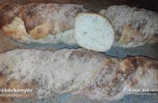 Gluténmentes gyökérkenyér, ciabatta, vagy svájci pain pailasse.