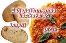 Új gluténmentes lisztkeverékek - pizza és élesztőmentes bagett készítéséhez