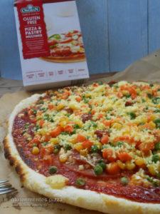 egyszerű és gyors gluténmentes pizza Orgran gluténmentes lisztkeverék