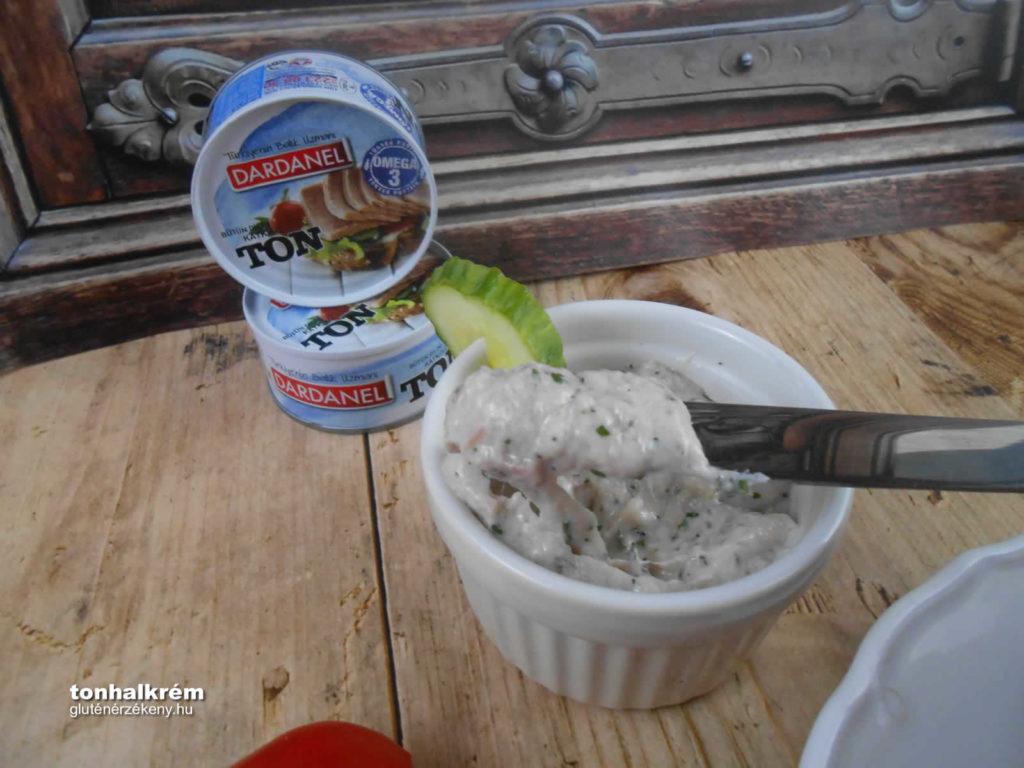tonhalkrém gluténmentes recept Dardanel