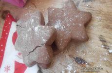 Karácsonyi csillag - kakaós-mogyorós gluténmentes keksz