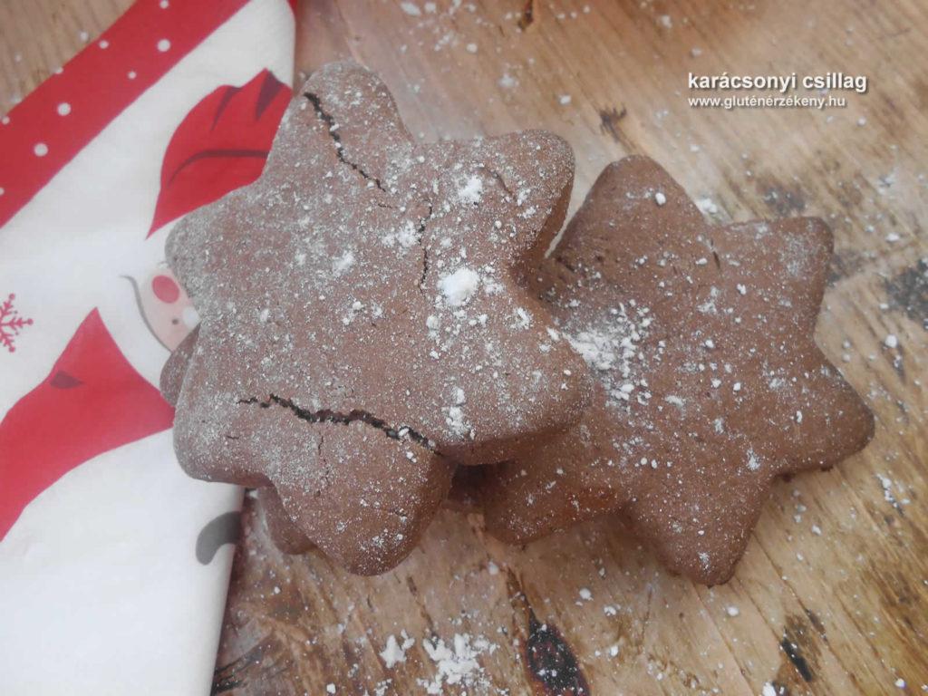 kakós-mogyorós karácsonyi gluténmentes keksz