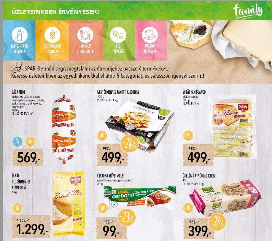 gluténmentes termékek akciója SPAR