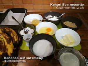 banános gluténmentes süteméyn készítés