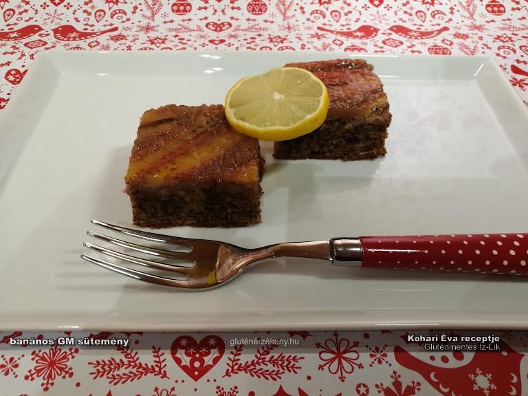 banános gluténmentes sütemény recept Gluténmentes Íz-lik
