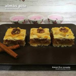 gluténmentes almás pite recept - gluténmentes sütemény