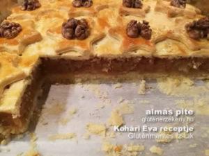 gluténmentes almás pite recept