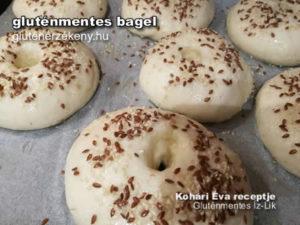 gluténmentes bagel készítés lépésről lépsre