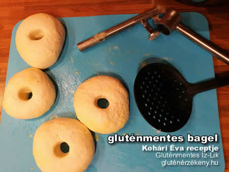 gluténmentes bagel készítés