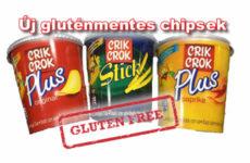 Új termék! Crik Crok gluténmentes burgonya chips hengeres dobozban100g