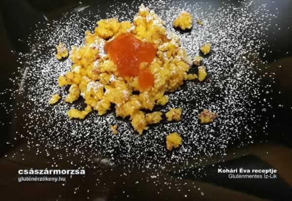 gluténmentes császármorzsa recept