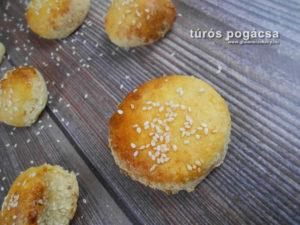 hajtogatott túrós gluténmentes pogácsa recept