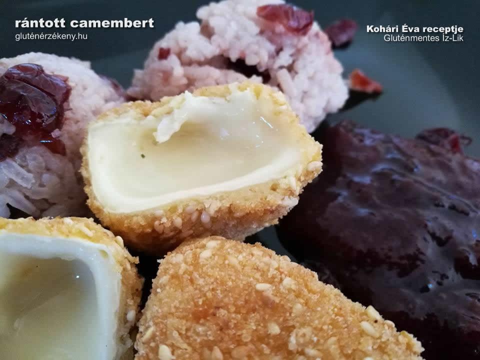 gluténmentes rántott camembert recept
