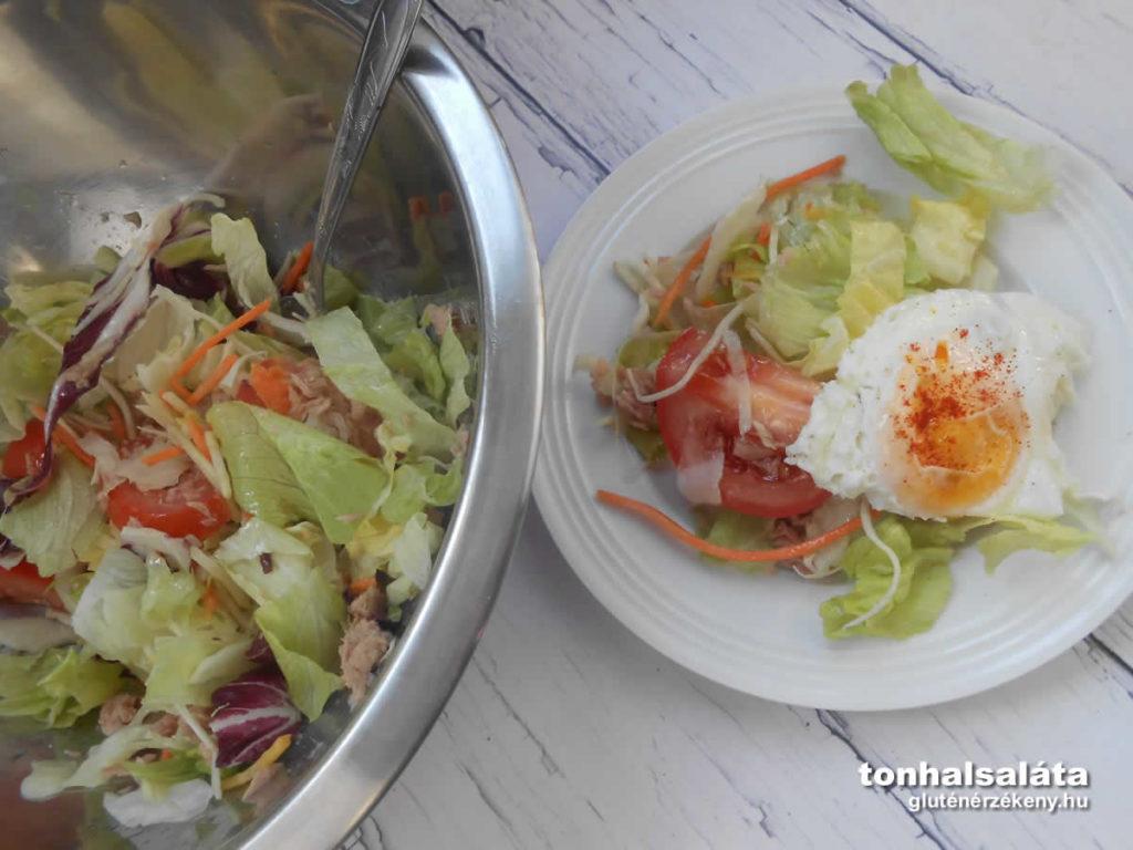 tonhalsaláta recept Dardanel tonhal, Eisber saláta