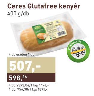 Gluténmentes kenyér akció