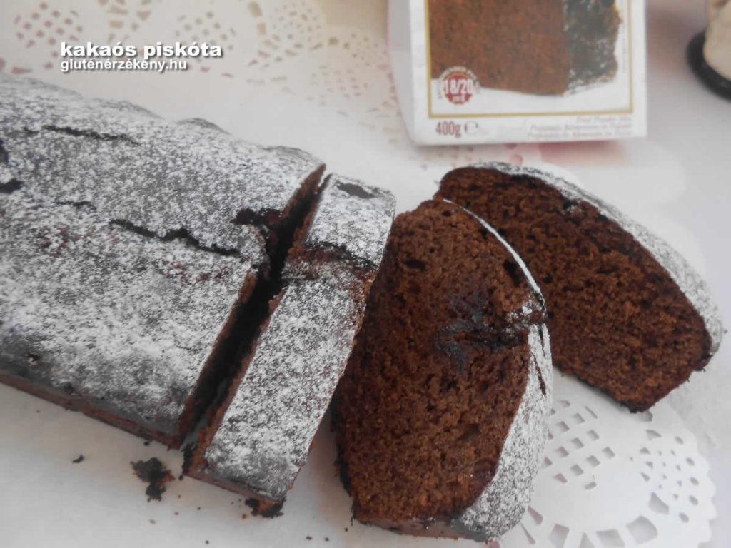 gluténmentes kakaós piskóta recept