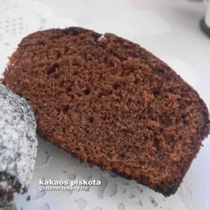 gluténmentes kakaós piskóta