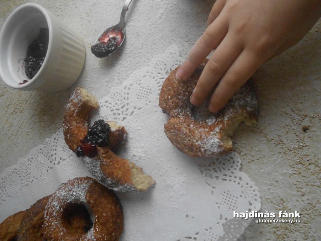 gluténmentes fánk recept hajdinával