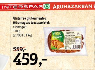 Interspar gluténmentes kenyér akció