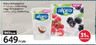 Alpro gluténmentes növényi termékek