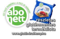 Abonett gluténmentes terméklista - 2017.02.24