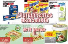 Akciós gluténmentes termékek listája 2017 február második fele