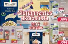 Gluténmentes akciós lista 2017 március