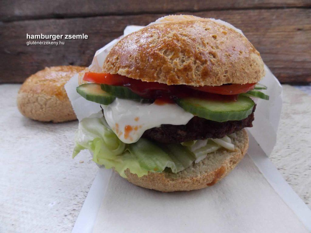 gluténmentes hamburger zsemle készítés
